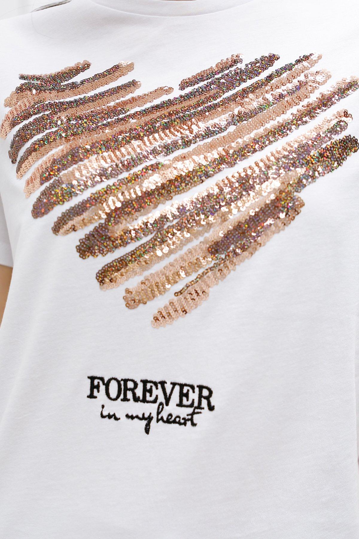 Kalp Detaylı Pul Nakışlı Tişört