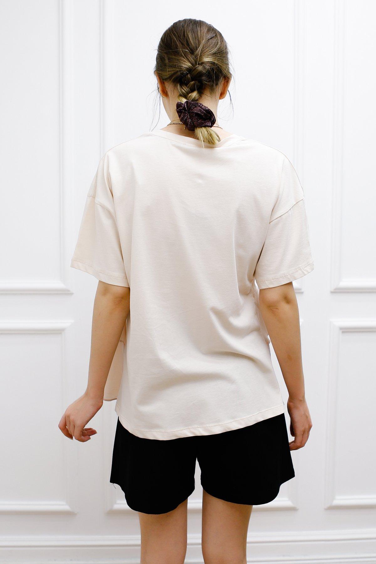 Çift Volanlı Tişört