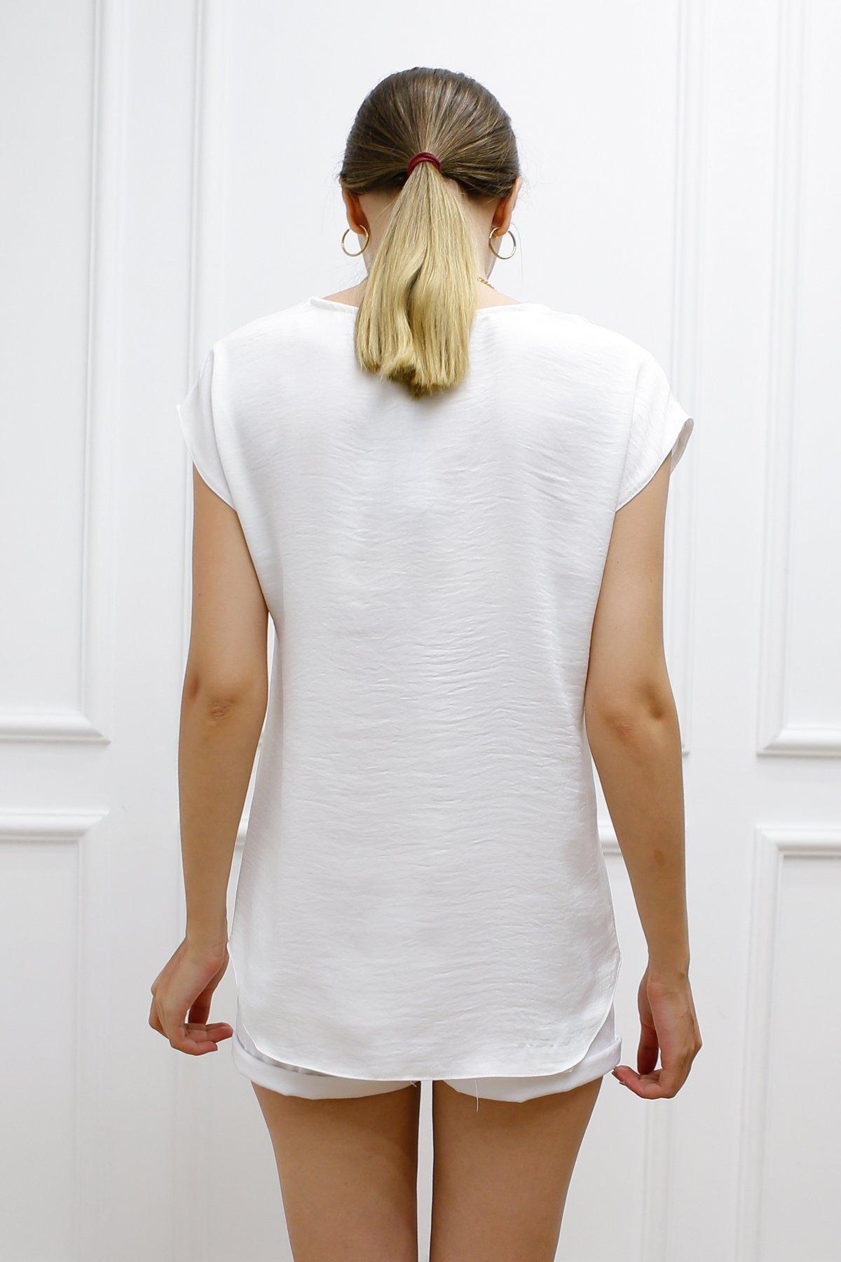 Önü Kısa Arkası Uzun Bluz