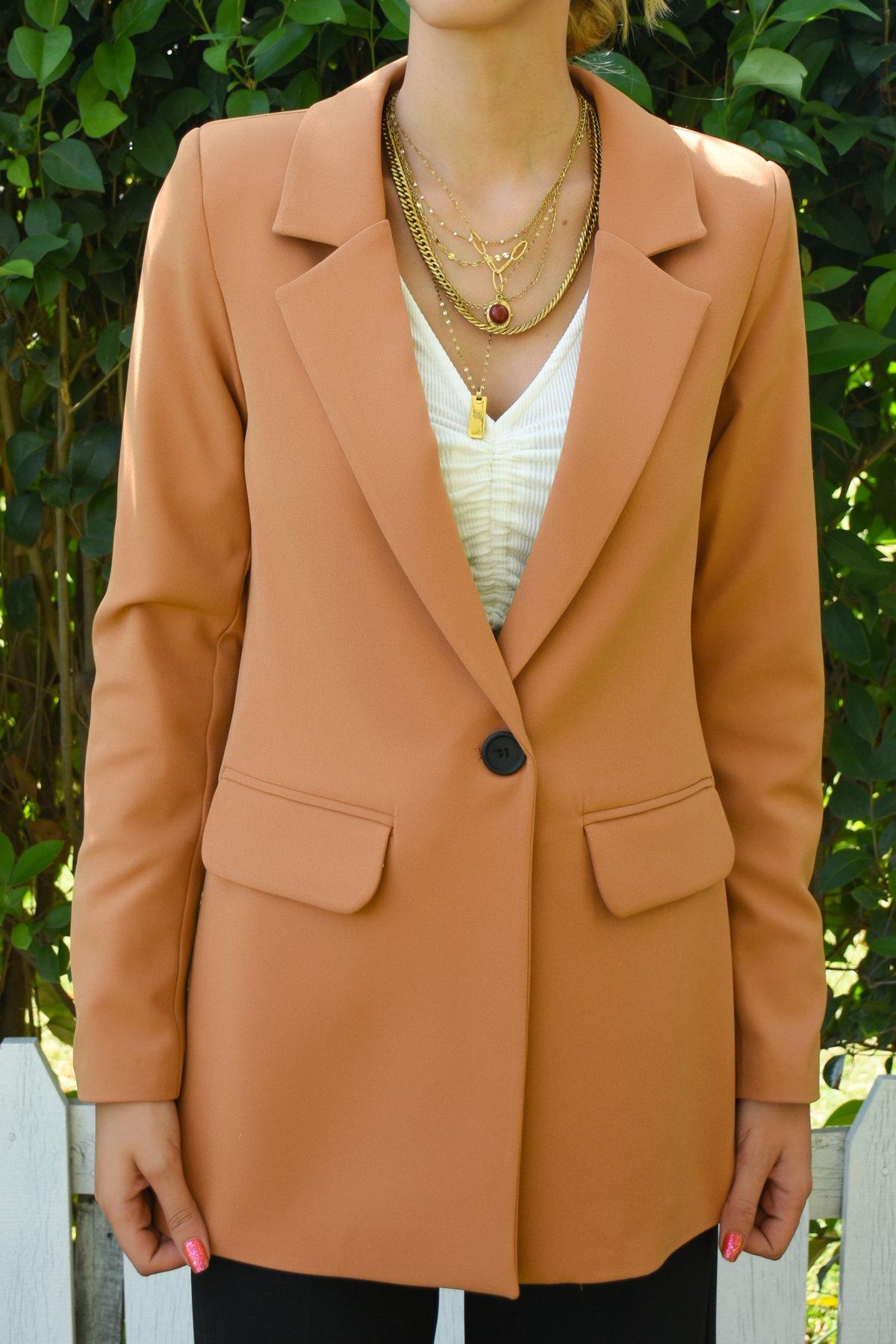 Tek Düğmeli Ceket