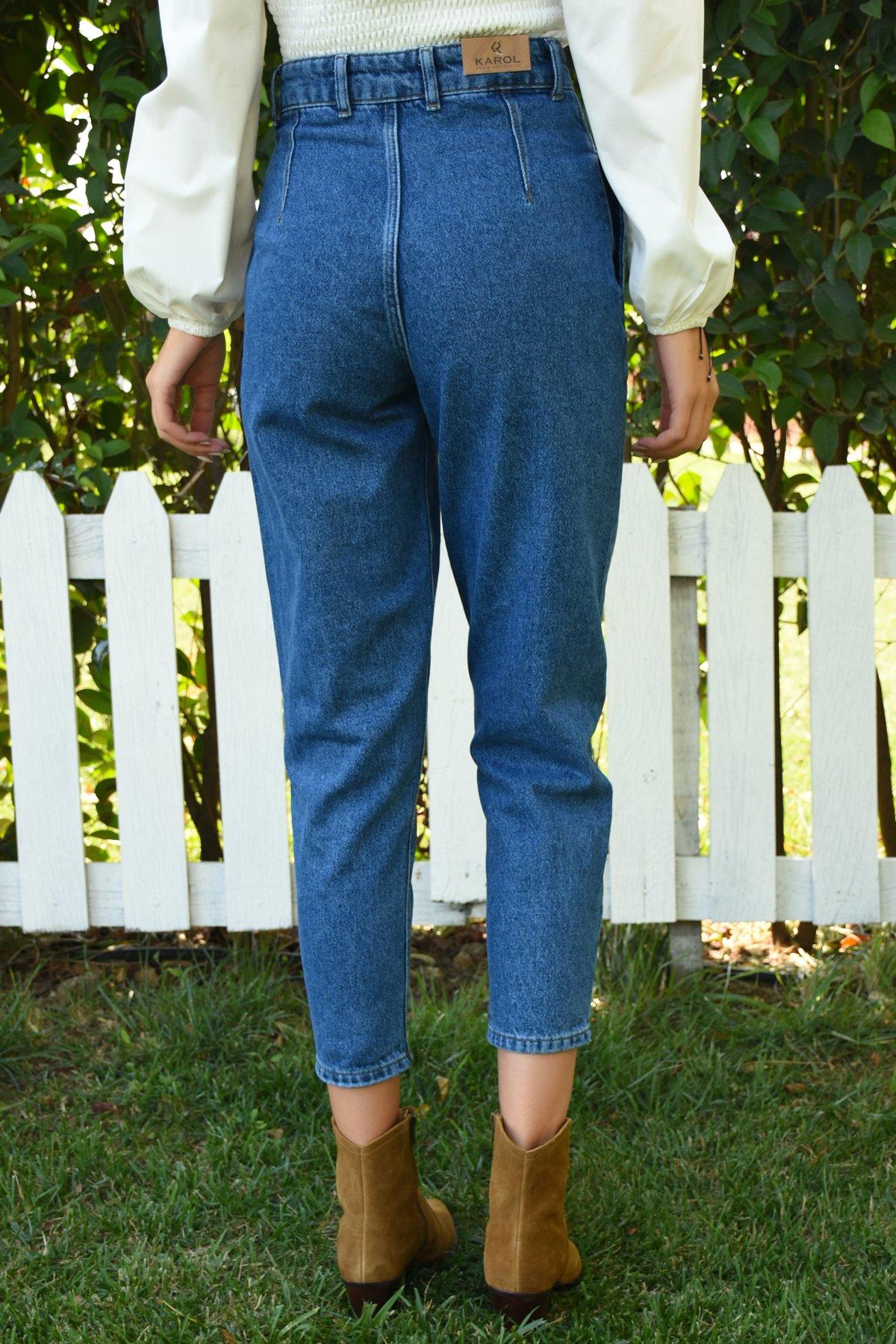 Önü Contalı Pantolon