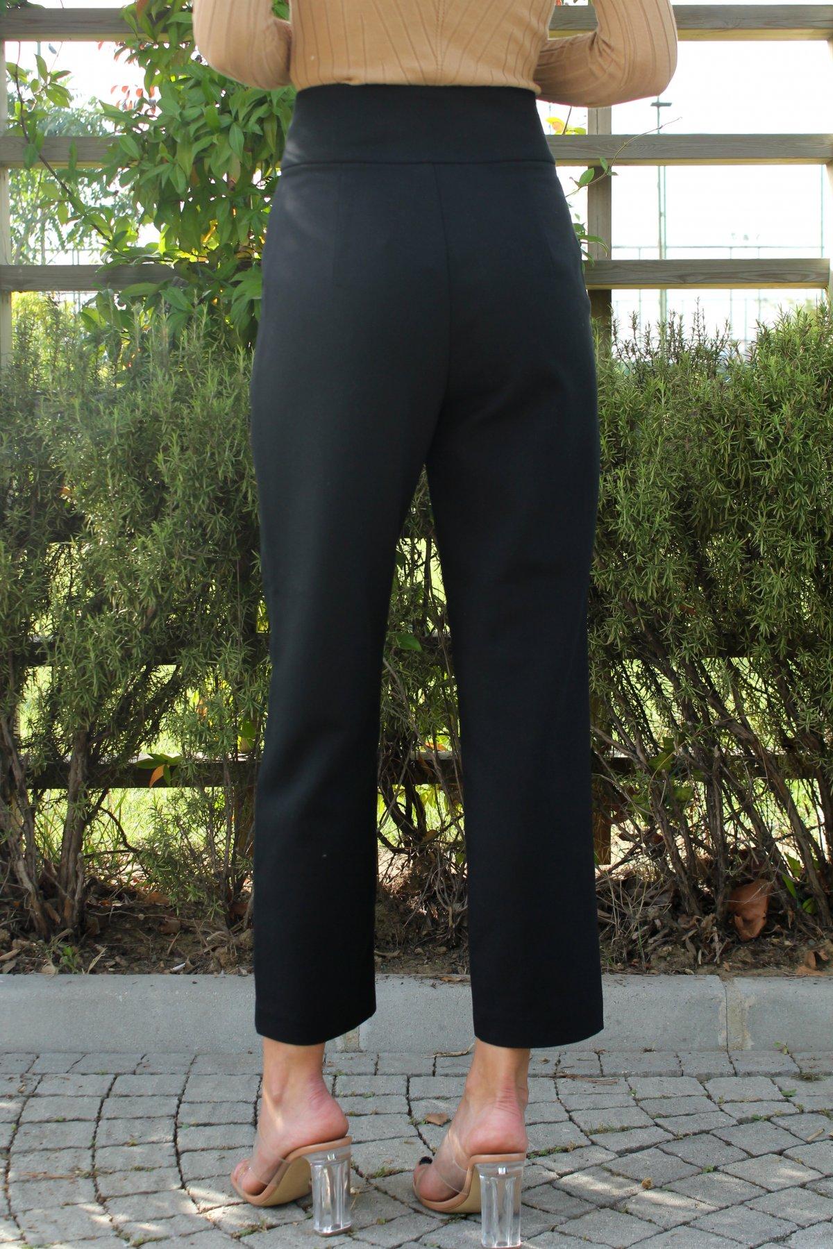 Yüksel Bel Cepli Pantolon