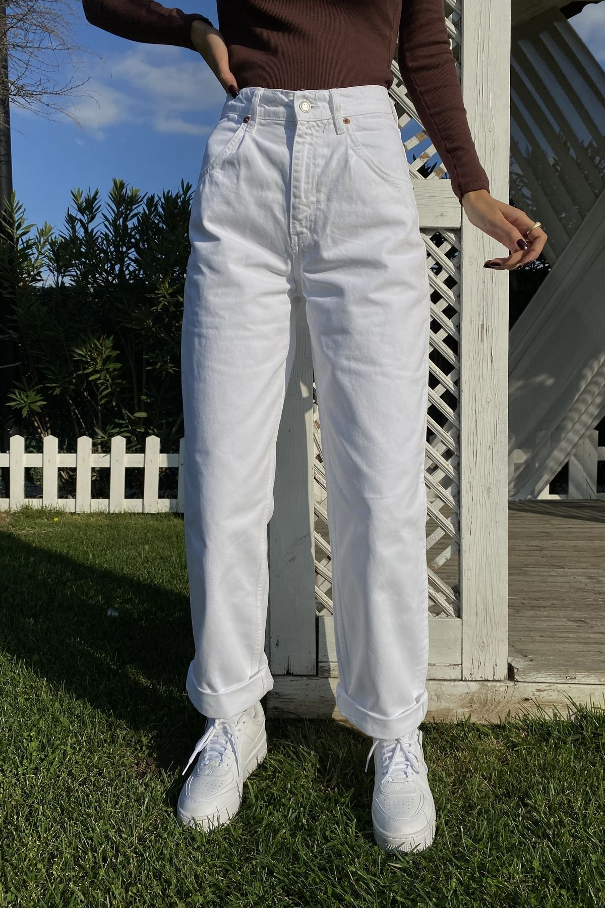 Bol Paça Pens Detaylı Pantolon