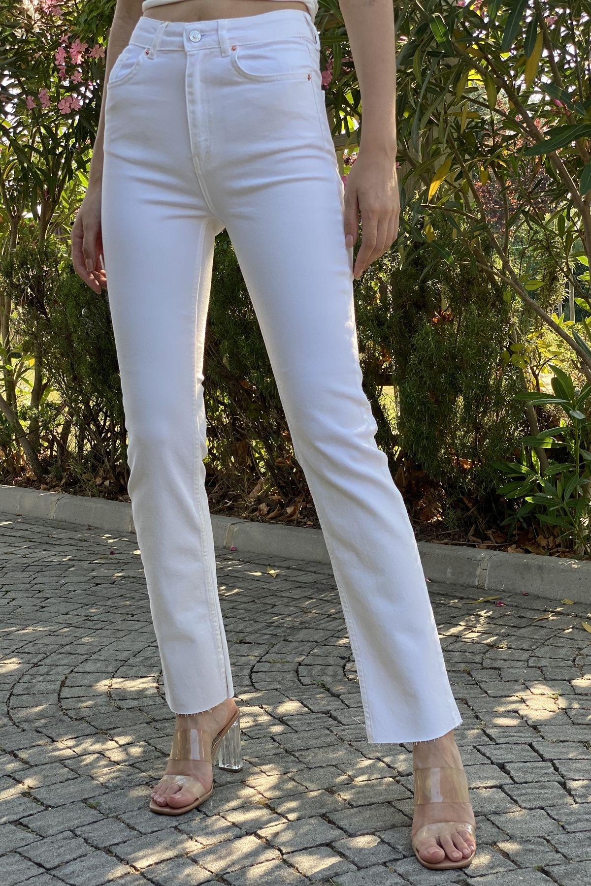 Yanı Yırtmaçlı Likralı Pantolon