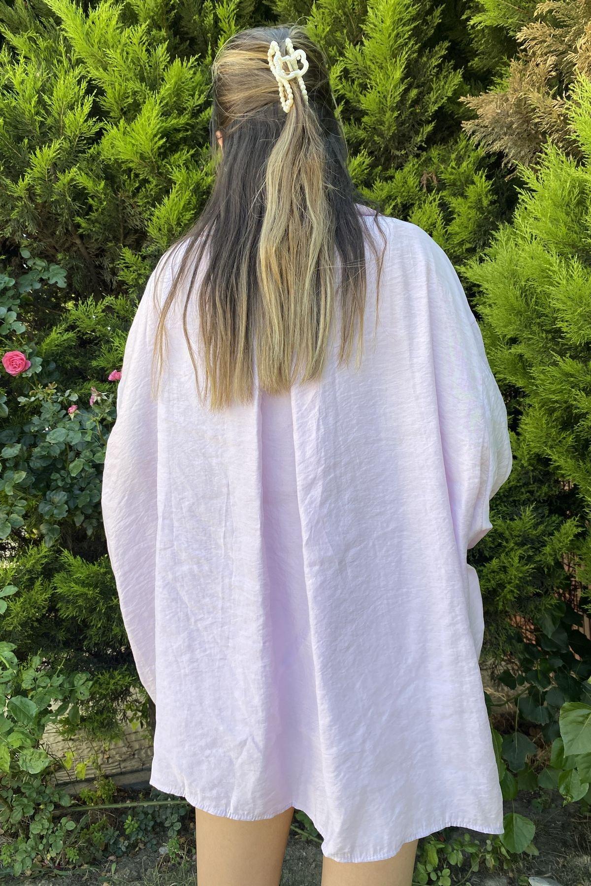 Omzu Düşük Oversize Gömlek